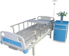Hospital Furniture Manual 2 cranks fold-away Medical bed CW-A00011