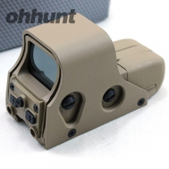 551 Tan Holographic Sight Red&Green Dot Sight Rifle Hunting Scope with 20mm Rail Mounts for Airsoft