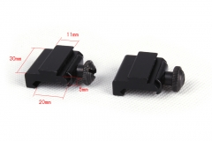 Ohhunt 2 pcs Set of Weaver to Dovetail Rails Adaptor Hunting Tactical Scope Mounts Accessories