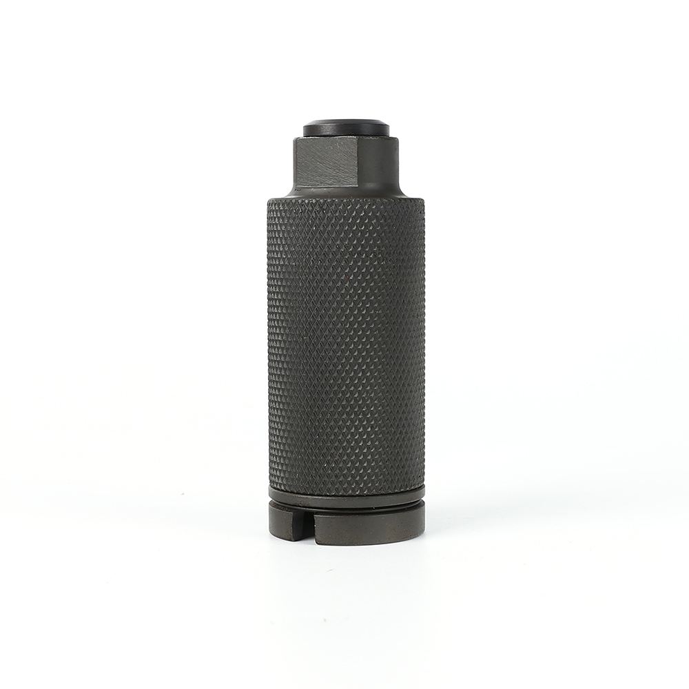 223 / 5 56 Krinkov Muzzle Brake Flash Can Flash Suppressing Canister Cone  1/2-28 TPI With Crush Washer Included