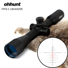 ohhunt FFP 4.5-18X44 SFIR Riflescopes Lock Reset Scope