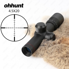 Ohhunt 4.5x20 1 inch Compact Riflescope With Flip-open Lens Caps and Rings
