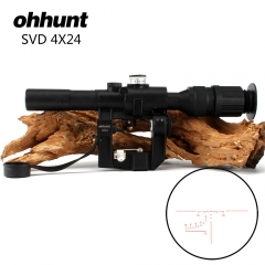 Tactical Red Illuminated 4x24 PSO-1 Type Scope for Dragonov SVD AK Riflescope Sniper Rifle Series
