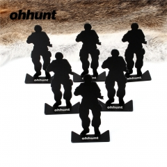 Ohhunt Metal Target Model 80x44mm Black For Hunting Shooting Exercise