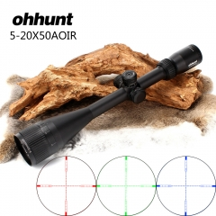ohhunt 5-20X50 AOIR Half Mil dot R/G/B Illuminated Turrets Lock Reset Full Size Rifle Scope