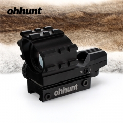 Ohhunt Tactical Hunting 1X22 4 Style Reticle Reflective Red Green Dot Sight Scope Parallax free picatinny mount