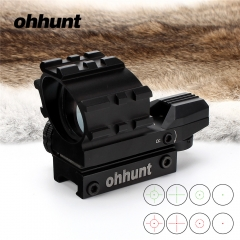 Ohhunt Tactical Hunting 1X33 Red and Green Dot Reflex Sight Scope Four Reticle With 20mm Tri Weaver Rails For Airsoft