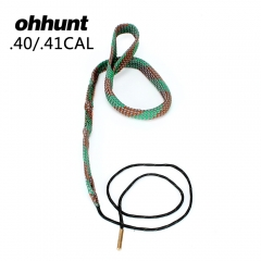 ohhunt Bore Snake .40 .41 CAL GA Gauge BoreSnake Shotgun Barrel Bronze Cleaner Kit Hunting Gun Cleaning Accessories