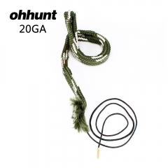 ohhunt Bore Snake Gun Cleaning 20 Cal GA Gauge Boresnake Shotgun Barrel Bronze Cleaner Kit