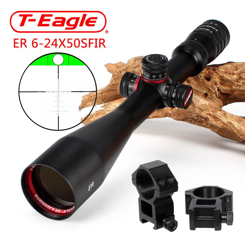 Eagle ER 6-24X50 SFIR Turrets Lock Reset Built-in Bubb Level Rifle Scope