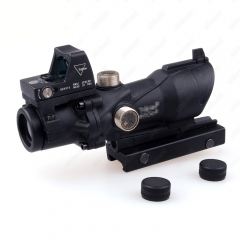ohhunt 4x32 with Lron Sights 20mm Weaver Picatinny Rail Mounts Hunting Tactical Rifle Scope