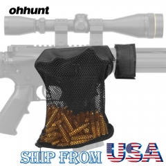 ohhunt AR-15 Ammo Brass Shell Catcher Mesh Trap Zippered Closure for Quick Unload Nylon Mesh Black