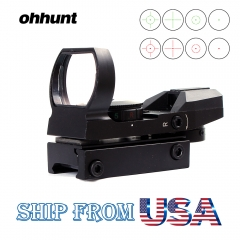 Ohhunt 1X22 imitate Holographic 4 Reticle Reflective Red Green Dot Sight Scope Parallax