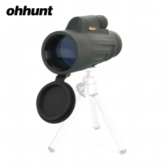 ohhunt 10x50 Dark Green Monocular Waterproof Fogproof Wide-angle Bright Telescope