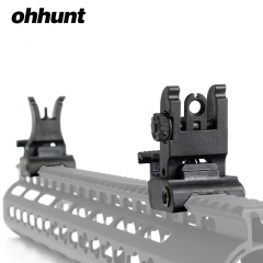 ohhunt Polymer Combat Front and Rear Sights Set Windage Adjustment