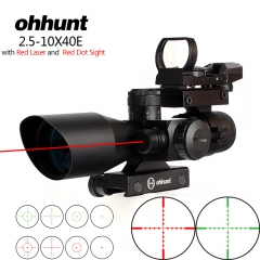 ohhunt 2.5-10x40 Red and Green illumination reticle rifle scope