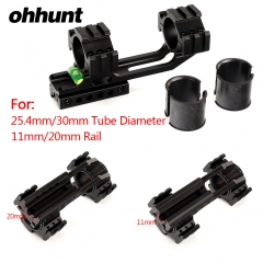 "ohhunt Hunting 25.4mm 30mm 11mm 3/8"" Dovetail 20mm Picatinny Weaver Riflescope Rings Offset Scope Mount Bubble Level Extra Rail"