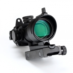 ohhunt 4x32 Rifle Scope Optics BDC Glass Etched Reticle with Lron Sight Tactical Optical Sights for AR15 M4 M16