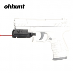 "ohhunt Low Profile Pistol Hunting Red Dot Laser Sight Scope Laser Pointer Airsoft 20mm Picatinny Weaver 3/8"" 11mm Dovetail Mount"