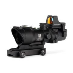 ohhunt 4X32 Fiber Source Red Illuminated with RMR Micro Red Dot Riflescope Use for Tactical Airsoft