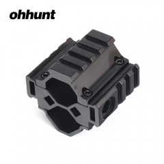 ohhunt Universal Tactical Tri-rail Shot~gun Barrel Mount 3 Slots For 12 Gauge Mossberg 500 RM 870 with QD Sling Swivel