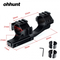 "ohhunt Hunting Tactical  Dual scope rings 1 inch 25.4mm 30mm Offset Rifle Scope 11mm 3/8"" Dovetail Rings Mount with Extra Picatinny Weaver Rail"