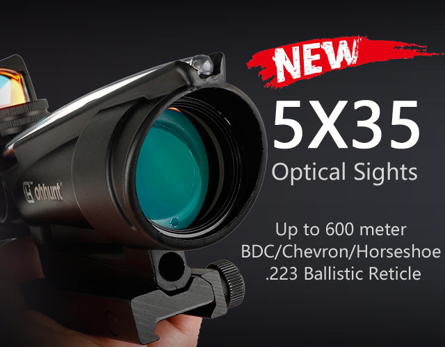 5x35 hunting  fiber optics scope