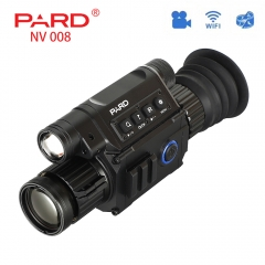 PARD NV008 Digital Night Vision Riflescopes Built-in IR Illuminator Red Laser Sight Hunting Tactical Video Day and Night Can Use