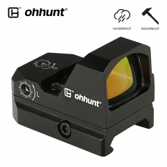 ohhunt A style 1x24mm Compact Reflex Red Dot Sight 3 MOA WaterProof ShockProof For Rail-Equipped Pistol Rifles with Night Vision Levels