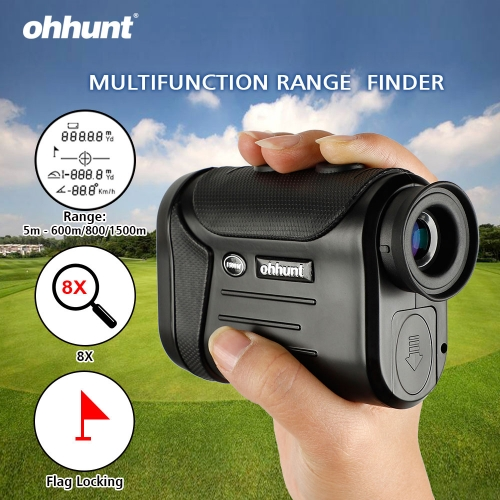 ohhunt 8X 600M 800M 1500M Multifunction Laser Rangefinders Hunting Golf Monocular Range Finder Distance Meter Outdoor Measuring Black/Brown