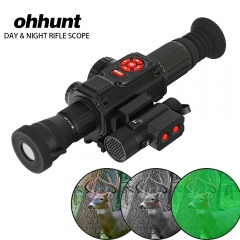 ohhunt Digital Night Vision Riflescope Video Recorder GPS WiFi Compass HDMI with IR Illuminator use Hunting Scope Day and Night