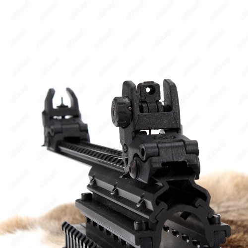 Ohhunt Model 4 AR 15 Tactical Flip up Front Rear Sight Set Polymer Sights Windage Adjustment For 1913 Picatinny Rail handguards