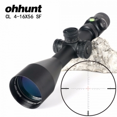 ohhunt CL 4-16X56 SF Hunting Optics Riflescopes Glass Etched Reticle Side Parallax Turrets Lock Reset Scope with Bubble Level
