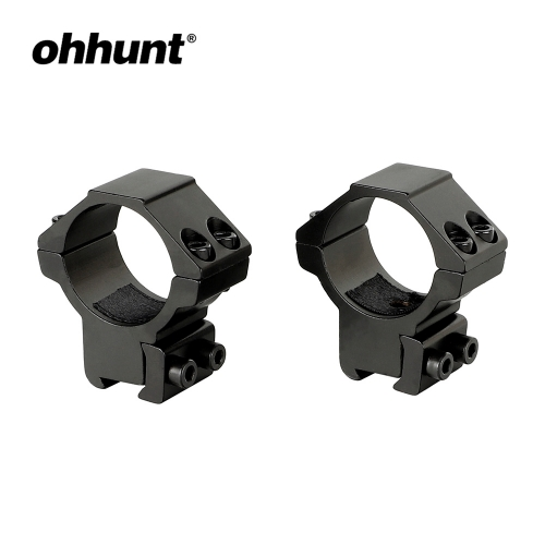 ohhunt 2PCs 30mm Dovetail Rings Med Profile Airgun Rings with Stop Pin 11mm  Rifle Scope Mount Rings Hunting Tactical Accessories