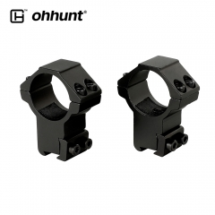 ohhunt 2PCs 30mm High Profile Airgun Rings w/Stop Pin Dovetail Rings 11mm Rifle Scope Mount Rings Hunting Tactical Accessories