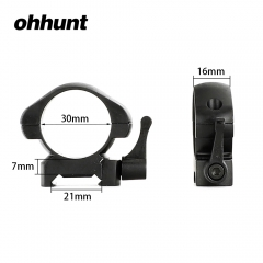 ohhunt 30mm Diameter Steel Quick Release Picatinny Weaver Medium Profile Hunting Scope Rings Tactical Mounts  2 pieces
