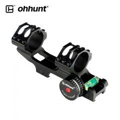 ohhunt 25.4mm 20 MOA Scope Mount Extended Aluminum Tactical Rings with Angle Cosine Indicator Kit Bubble Level Picatinny Rail