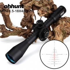 ohhunt MC-Z 4.5-18X44 FFP Hunting Optical Riflescope First Focal Plane  Side Parallax Z1000 Glass Etched Reticle Lock Reset Fully multi-coated opticsS