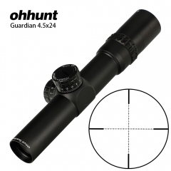 ohhunt Guardian 4.5x24 Hunting Rifle Scope 30mm Tube Tactical Optics Sight 1/2 Half Mil Dot Reticle Turrets Reset Riflescope