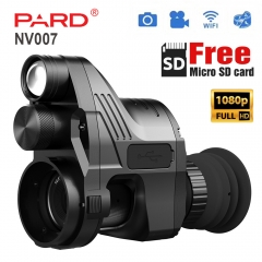 PARD NV007 Hunting 1080P HD Light Weight Rear Mounted Night vision Monocular Built-in IR-illuminator Red Laser Cameras Video WIFI Connect micro SD car