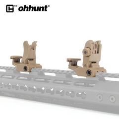 Tactical ohhunt Polymer Combat Front and Rear Sights Set Windage Adjustment for Universal Dovetail 1913 and Weaver style Rails