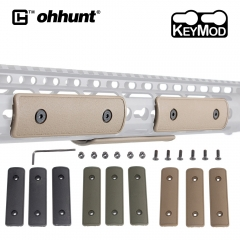 "ohhunt Tactical 4"" Keymod Handguard Rail Panel Cover 3Pcs/Set Protector Hands Guard for Hunting Key Mod AR15 Airsoft 3 Color"