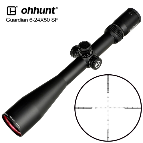 ohhunt Guardian 6-24X50 SF Hunting Riflescopes Side Parallax 1/2 Half Mil Dot Glass Etched Reticle Turrets Lock Reset Scope