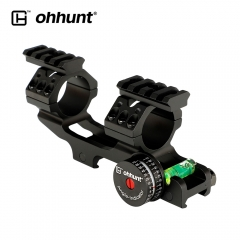 ohhunt 25.4mm 30mm Picatinny Scope Rings Mount with Angle Cosine Indicator Kit Bubb Level and Can Removed Top Two Rail