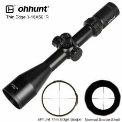 ohhunt Thin Edge 3-18X50 SF Hunting Riflescopes Side Parallax Mil Dot Glass Etched Reticle Turrets Lock Reset Shooting Scope