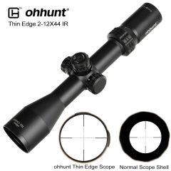 ohhunt Thin Edge 2-12X44 IR Hunting Riflescopes Mil Dot Glass Etched Reticle RGB Illumination Turrets Lock Reset Shooting Scope