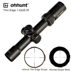 ohhunt Thin Edge 1-6X28 IR Hunting Riflescopes Mil Dot Glass Etched Reticle RGB Illumination Turrets Lock Reset Shooting Scope