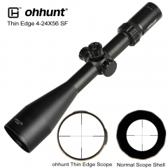 ohhunt Thin Edge 4-24X56 SF Hunting Riflescopes Side Parallax Mil Dot Glass Etched Reticle Turrets Lock Reset Shooting Scope