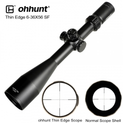 ohhunt Thin Edge 6-36X56 SF Hunting Riflescopes Side Parallax Mil Dot Glass Etched Reticle Turrets Lock Reset Shooting Scope