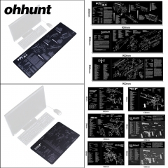Ohhunt Armorers Bench Mat Gun Cleaning Mat Parts Diagram & Instructions  Gun Split Picture Economy Gaming Mouse Pad Large Size 90x30cm